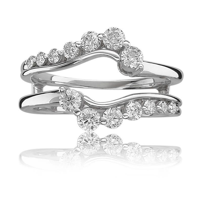Brilliant-Cut Journey Diamond Ring Wrap