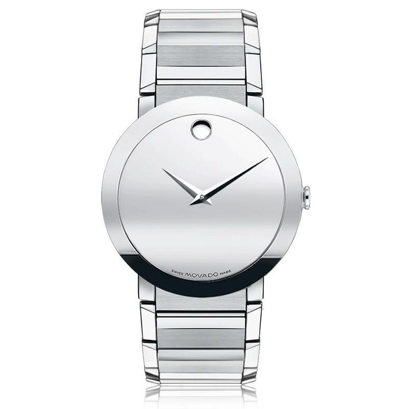 Movado Sapphire™ Men's Watch 38mm Silver Mirror 606093
