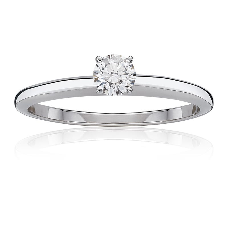 Diamond Round 3/8ct. Top Classic Solitaire Engagement Ring