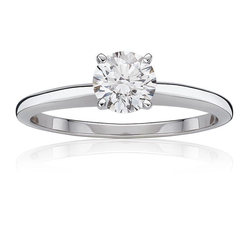 Diamond Round 5/8ct. Classic Solitaire Engagement Ring