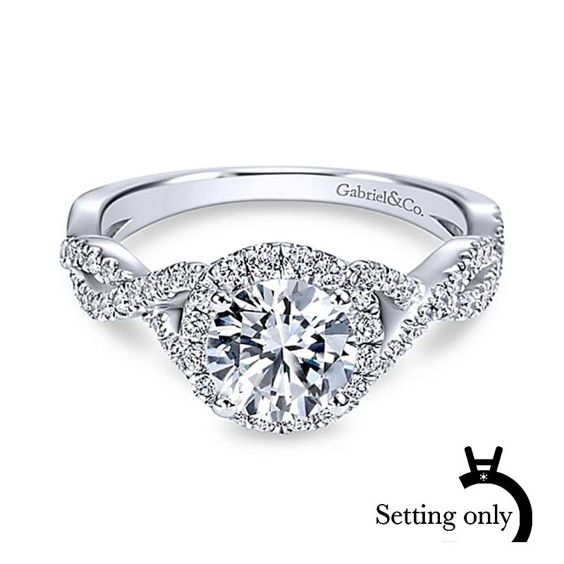 Wedding Rings Pictures.Gabriel Co Marissa 14k White Gold Round Halo Semi Mount Er7543w44jj