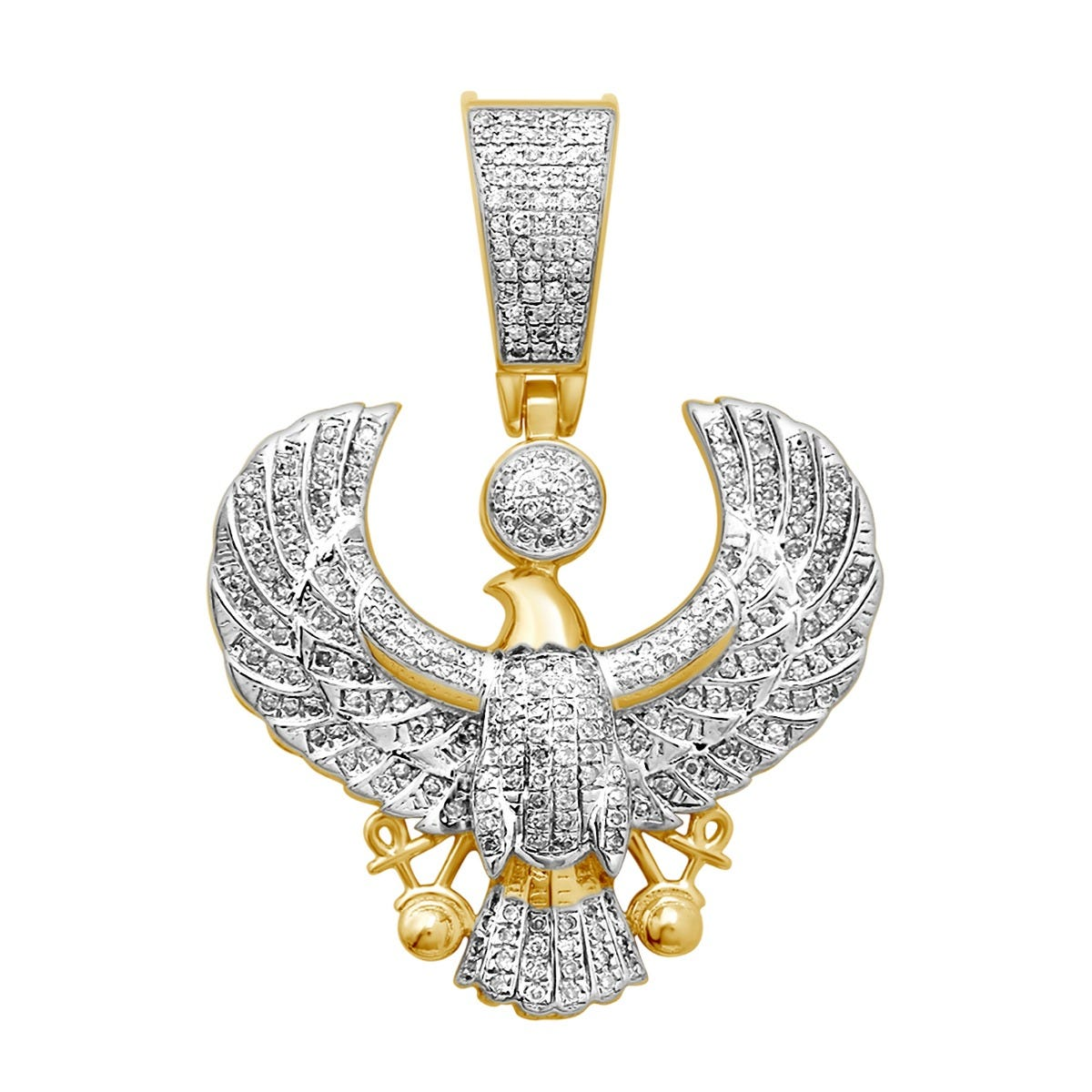 Men's Diamond Eagle Pendant 5/8ctw. in 10k Yellow Gold
