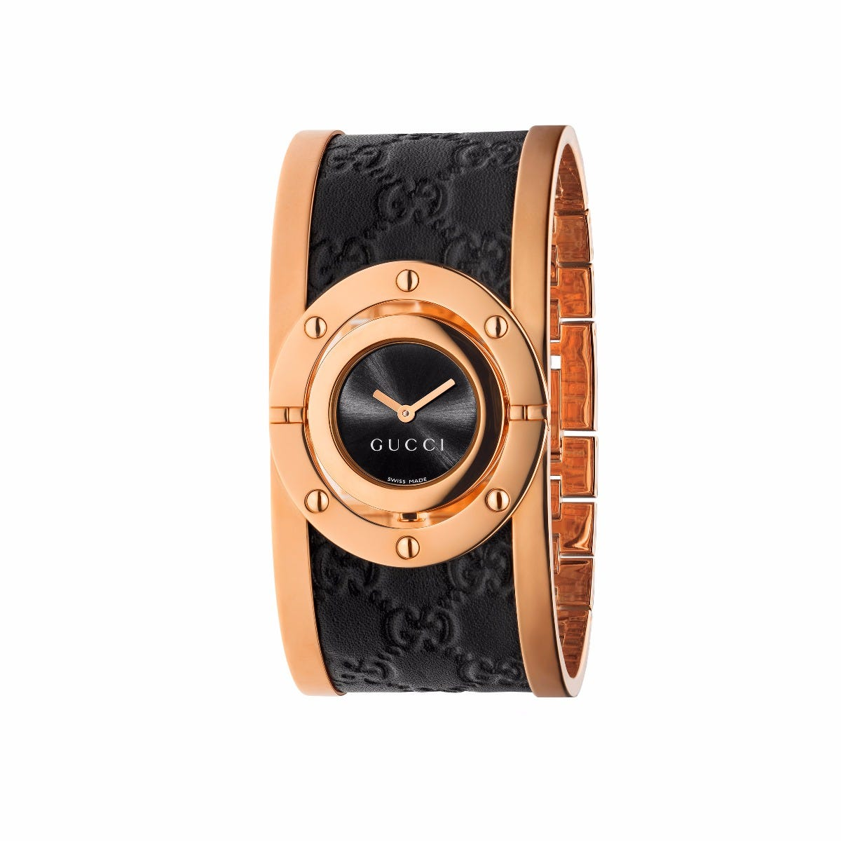 40dce53205f Gucci Ladies Twirl Pink Gold Watch