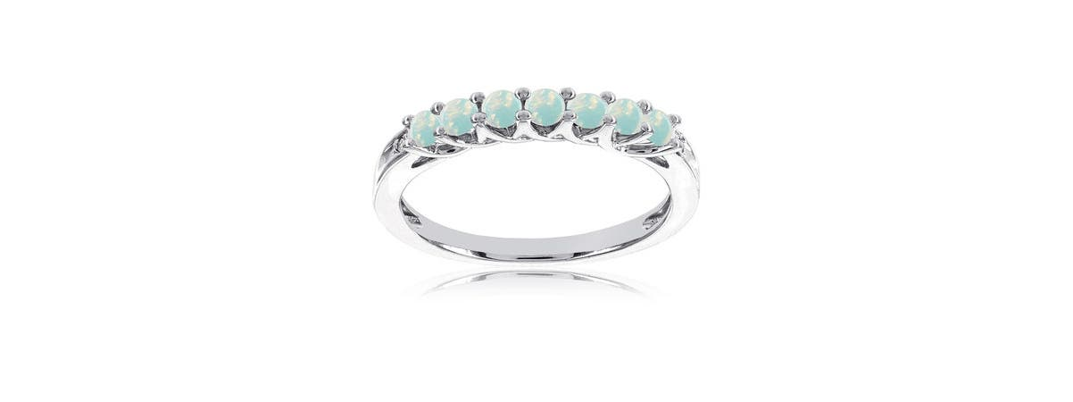 Created Opal Stackable Ring