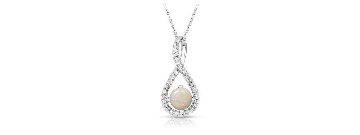 Opal Infinity Pendant