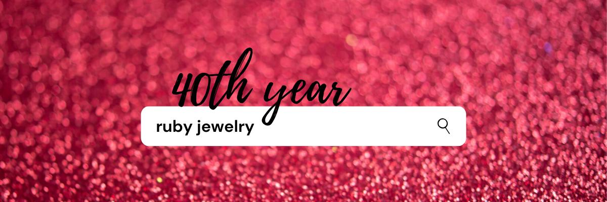 ruby anniversary jewelry
