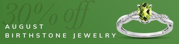 Peridot Birthstone Jewelry Sale