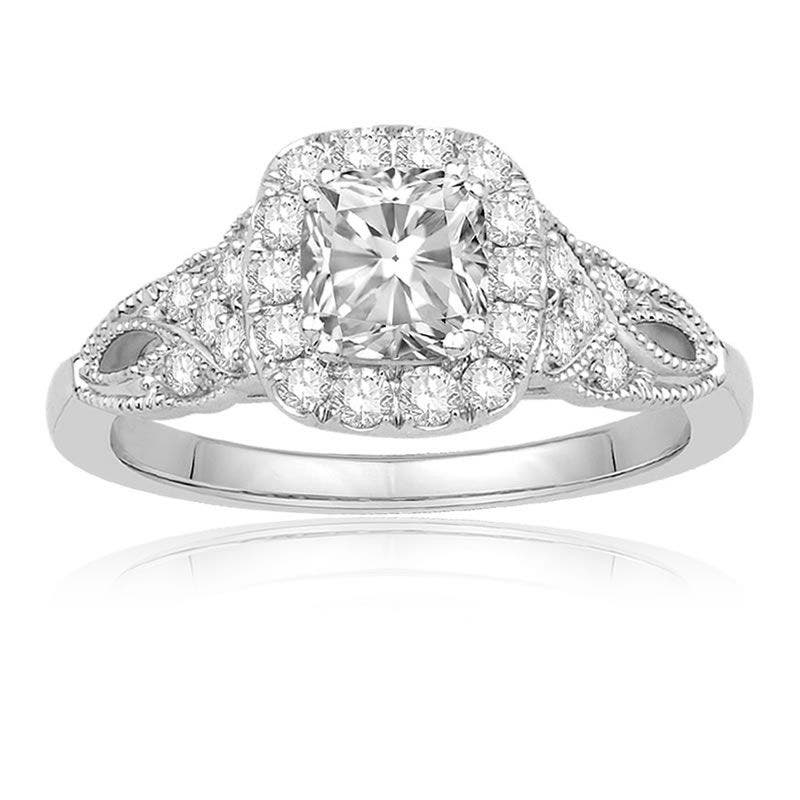 Ecoura Cushion-Cut 1+ct. Diamond Halo Engagement Ring in 14k White Gold - See more at: https://rogersandhollands.com/ecoura-cushion-cut-halo-engagement-ring#sthash.AlAVDwEt.dpuf