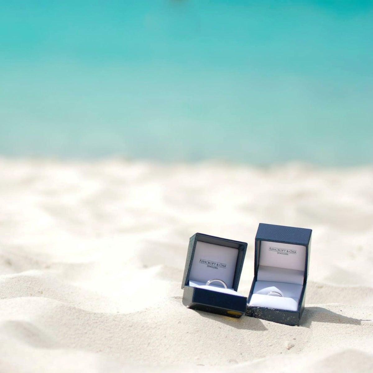 rings on sandy beach
