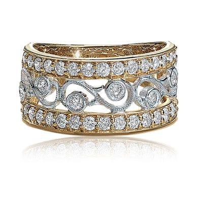 diamond gold anniversary ring