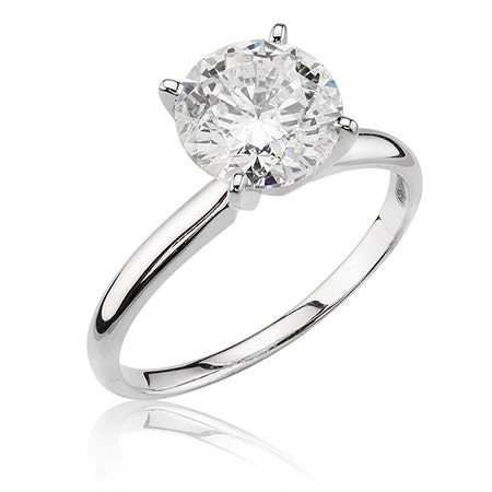 Brilliant-Cut 2ct. Diamond Solitaire Engagement Ring