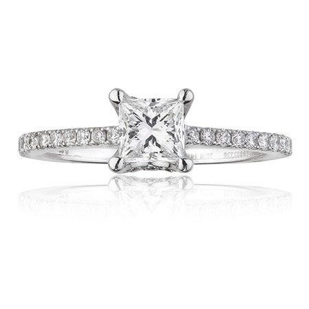 Canadian Ice™ Princess-Cut Diamond Engagement Ring in 14K White Gold