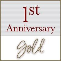 1st Anniversary: Gold