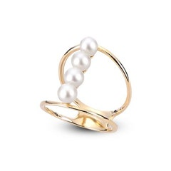 Freshwater Pearl Open Shank Ring in 10k Yellow Gold