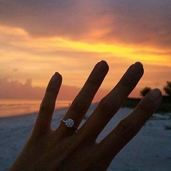 ring at sunset