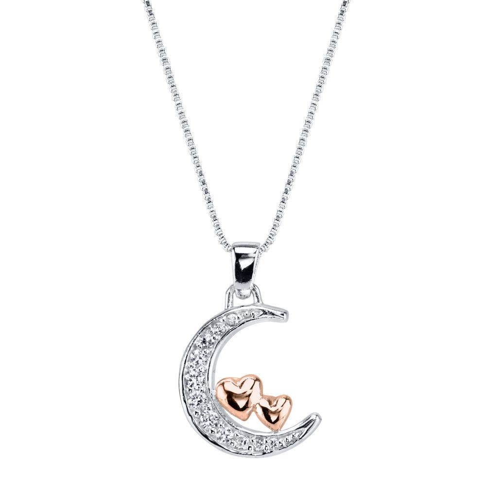 heart and moon pendant