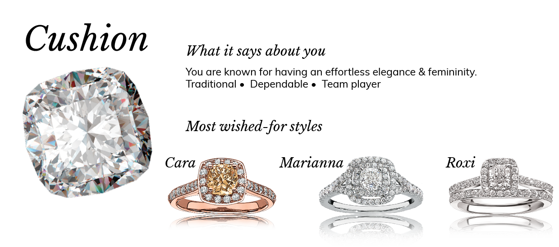 Cushion Cut Diamond Shape Engagement