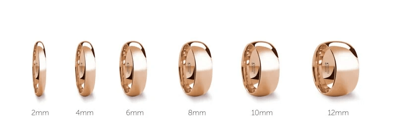 Mens Ring Width Examples