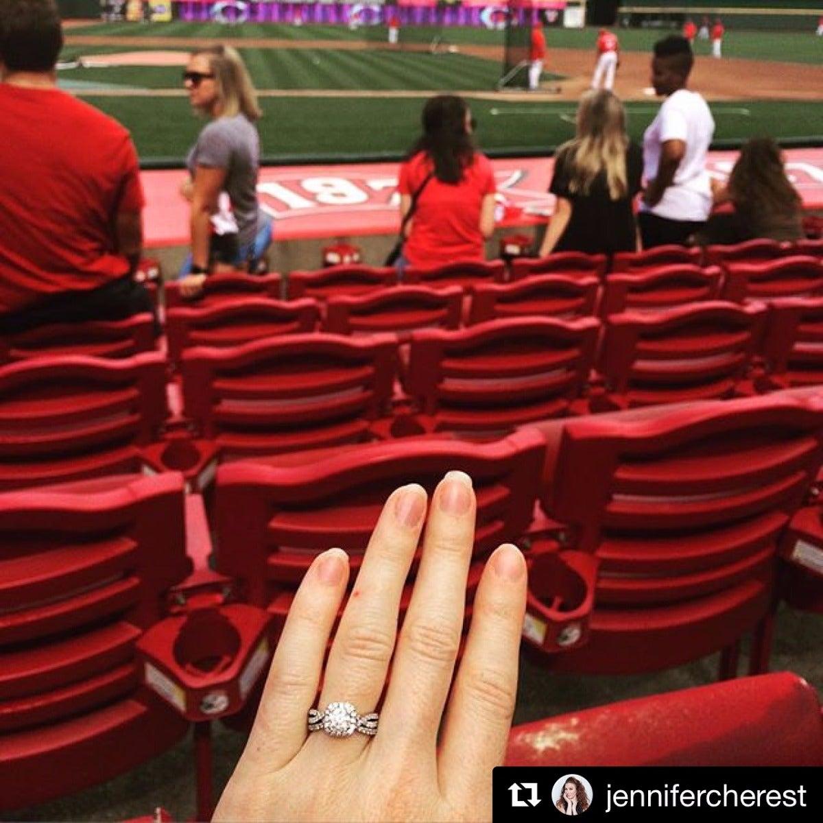 Baseball Game Ring Selfie