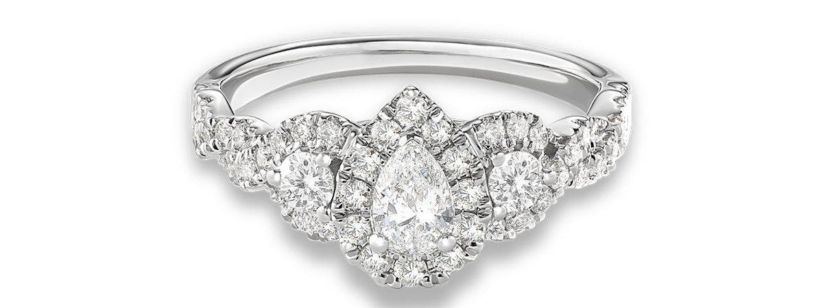 melina pear engagement rings