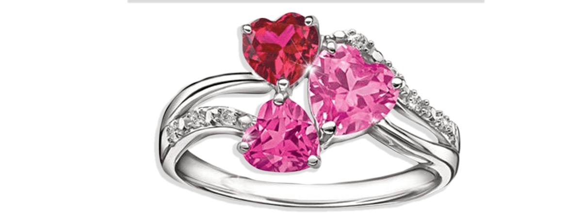 triple heart ring