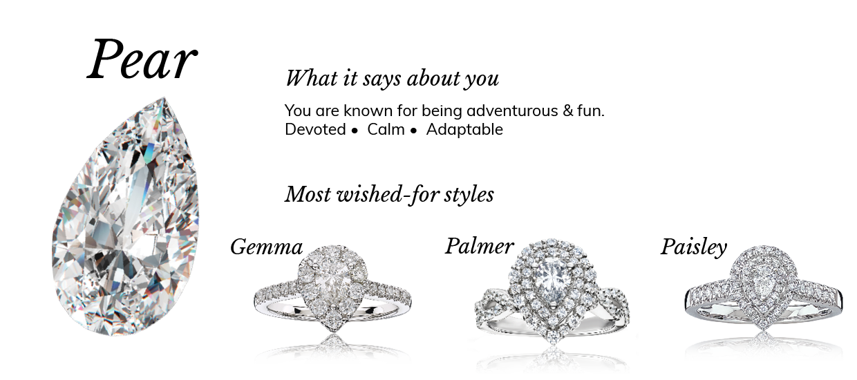 Pear Diamond Shape Engagement Meaning