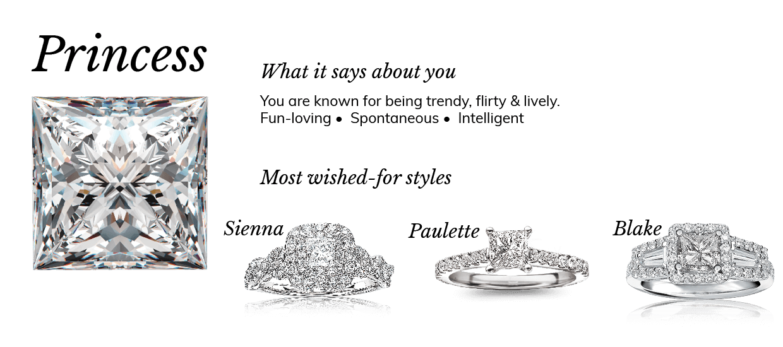 Princess Cut Diamond Shape Meaning Engagement