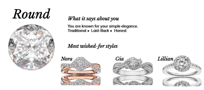 Round Diamond Shape Engagement Shape