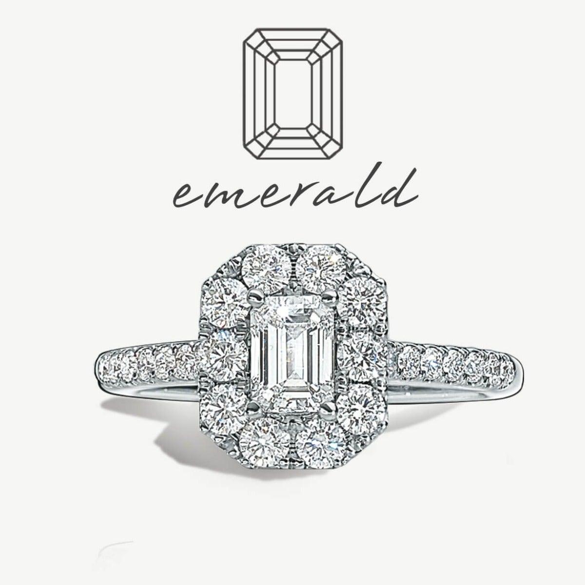 Diamond Emerald-Cut Rings
