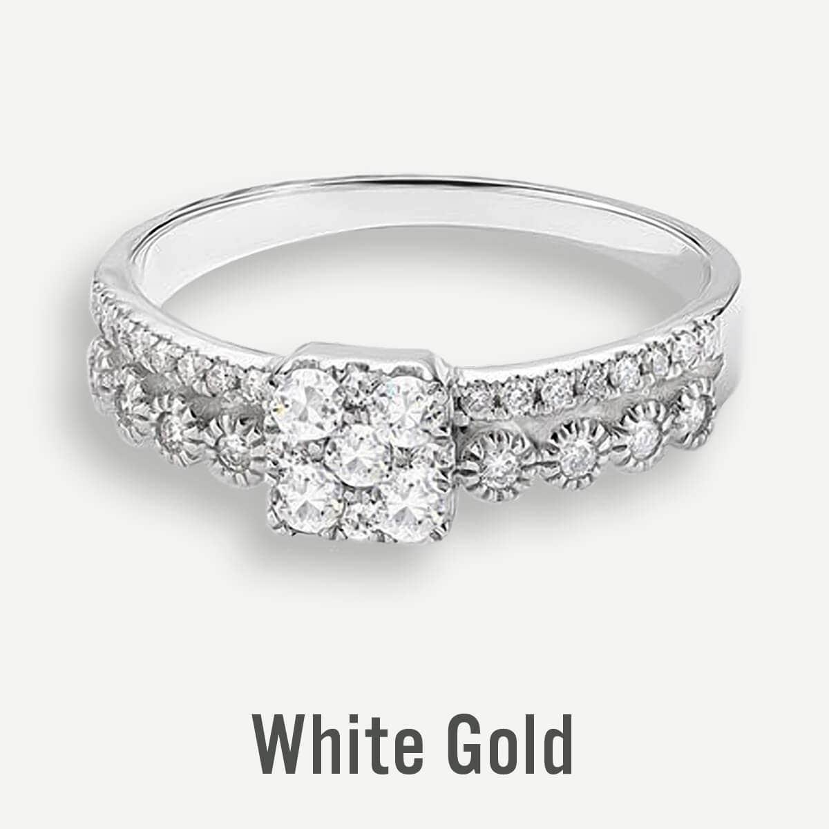 White Gold Promise Rings