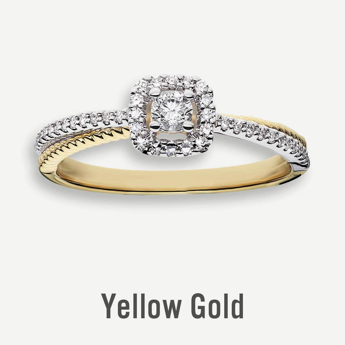Yellow Gold Promise Rings