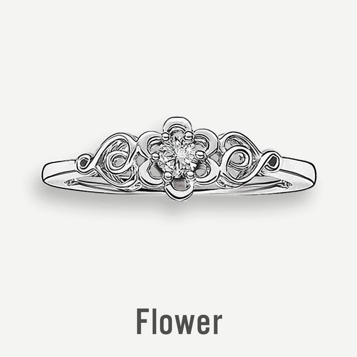 Flower Promise Rings