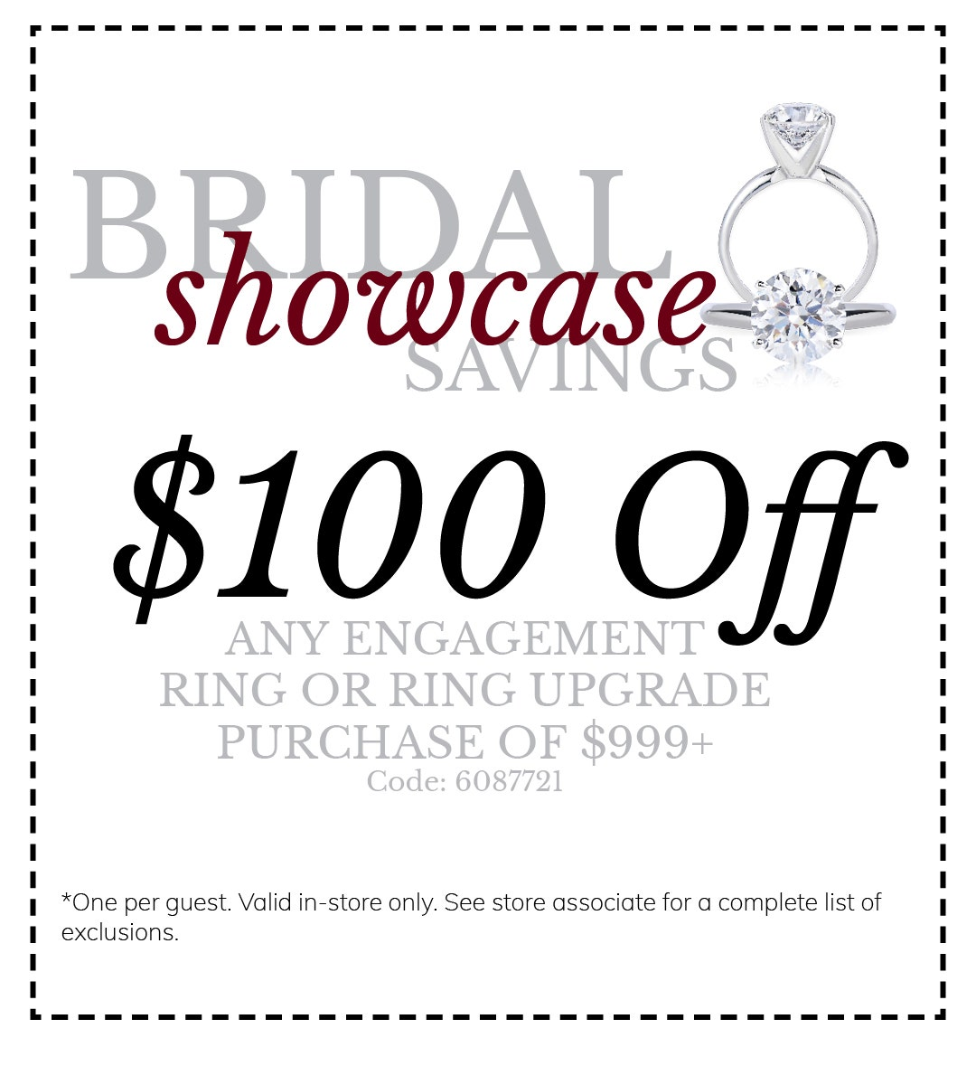 Bridal Event Coupon