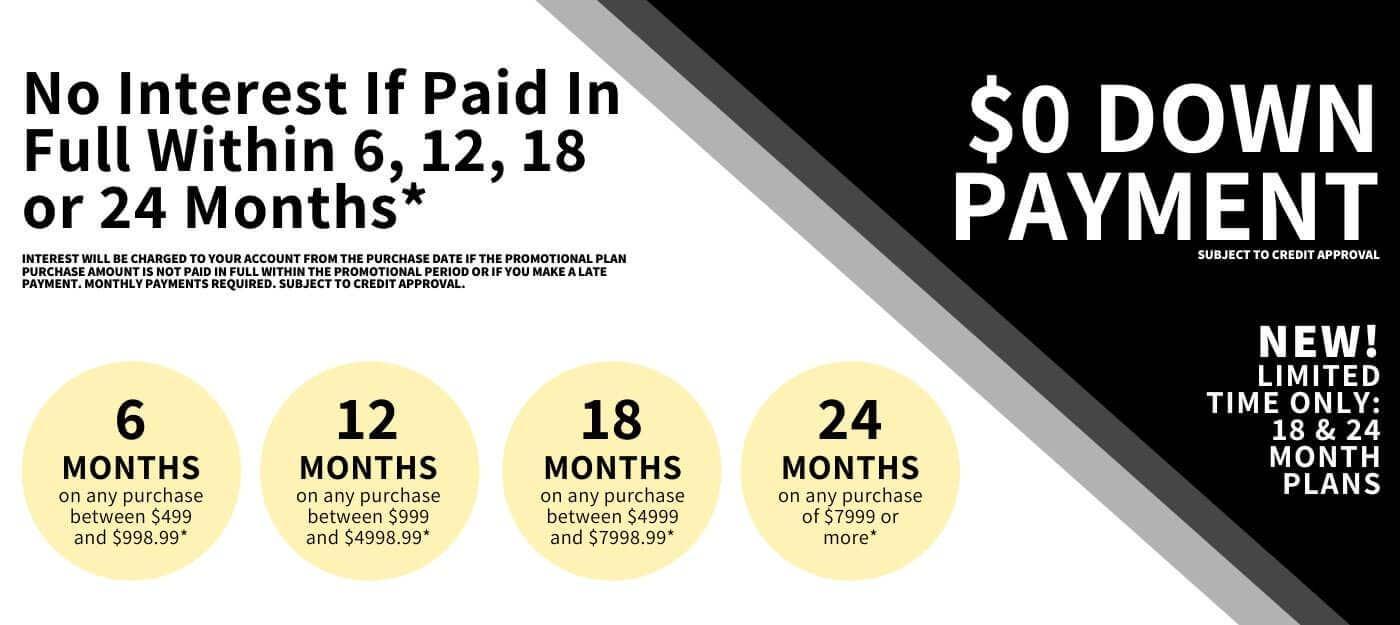 zero down payment jewelry financing
