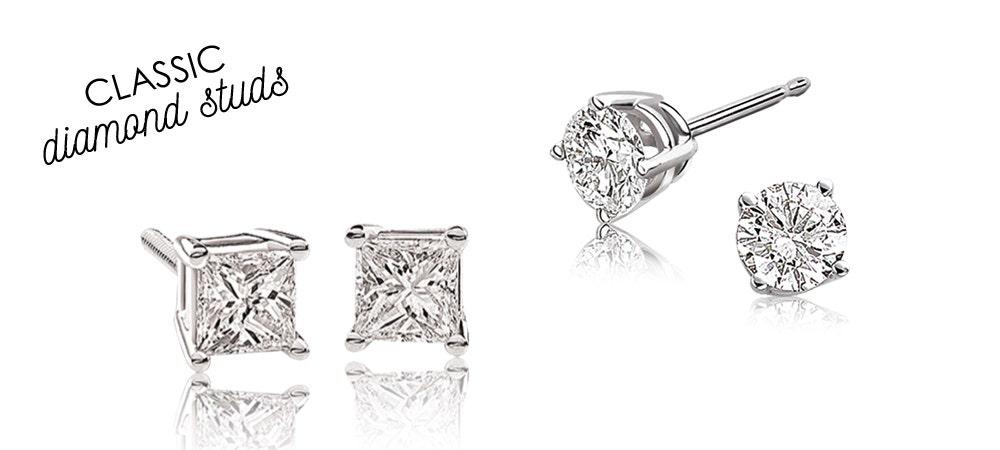 Diamond Classic Stud Earrings