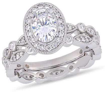 Moissanite Infinity Ring