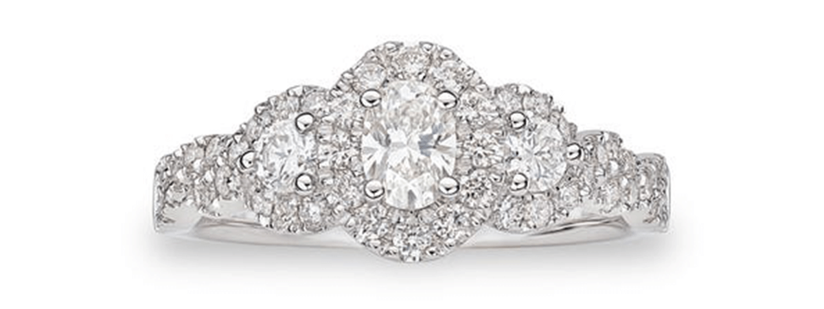 lovely oval engagement ring