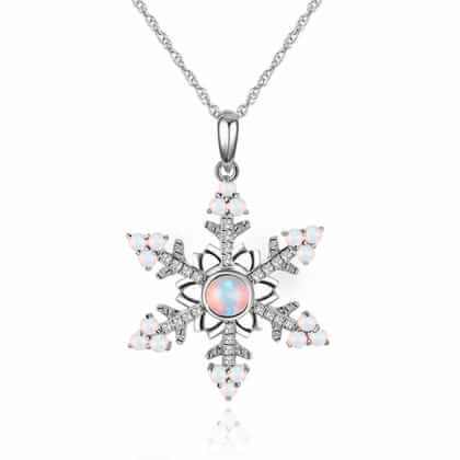 Opal Snowflake Necklace
