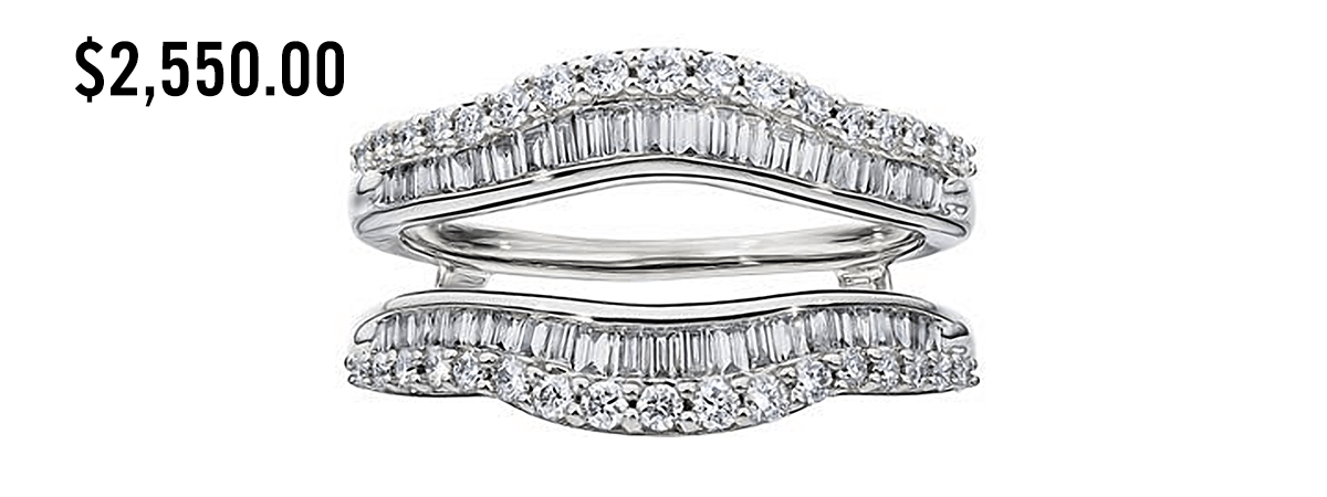 engagement ring wedding band wrap