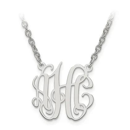 Monogram Sterling Silver Pendant